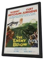 The Enemy Below - 11 x 17 Movie Poster - Style A - in Deluxe Wood Frame
