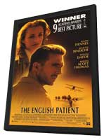 The English Patient - 11 x 17 Movie Poster - Style A - in Deluxe Wood Frame