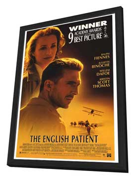 The English Patient - 27 x 40 Movie Poster - Style A - in Deluxe Wood Frame