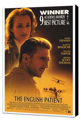 The English Patient - 27 x 40 Movie Poster - Style A - Museum Wrapped Canvas