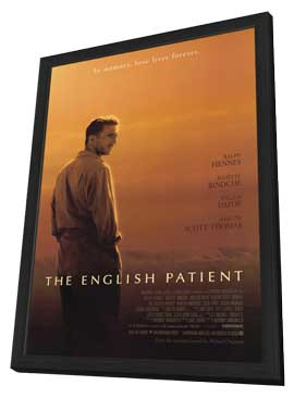 The English Patient - 27 x 40 Movie Poster - Style B - in Deluxe Wood Frame
