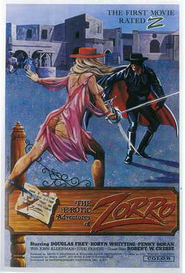 The Erotic Adventures of Zorro - 11 x 17 Movie Poster - Style A