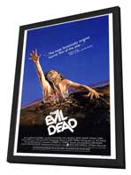 The Evil Dead - 27 x 40 Movie Poster - Style A - in Deluxe Wood Frame