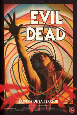 The Evil Dead - 27 x 40 Movie Poster - French Style B