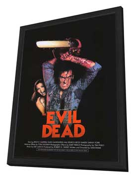 The Evil Dead - 27 x 40 Movie Poster - Style B - in Deluxe Wood Frame