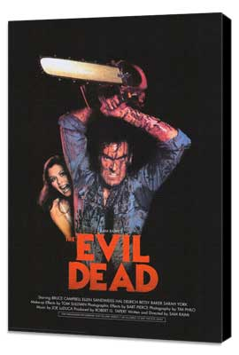 The Evil Dead - 27 x 40 Movie Poster - Style B - Museum Wrapped Canvas