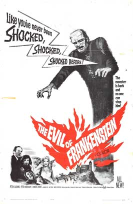 Evil of Frankenstein, The - 27 x 40 Movie Poster - Style B