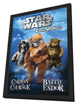 The Ewok Adventure - 11 x 17 Movie Poster - Style D - in Deluxe Wood Frame