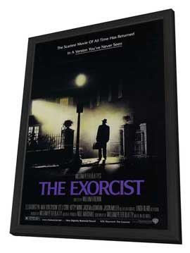 The Exorcist - 11 x 17 Movie Poster - Style B - in Deluxe Wood Frame