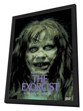 The Exorcist - 11 x 17 Movie Poster - Style D - in Deluxe Wood Frame