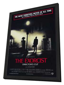 The Exorcist - 27 x 40 Movie Poster - Style B - in Deluxe Wood Frame