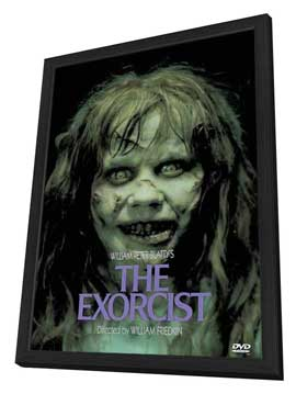 The Exorcist - 27 x 40 Movie Poster - Style C - in Deluxe Wood Frame