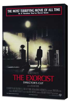 The Exorcist - 11 x 17 Movie Poster - Style B - Museum Wrapped Canvas