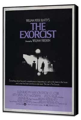The Exorcist - 11 x 17 Movie Poster - Style F - Museum Wrapped Canvas