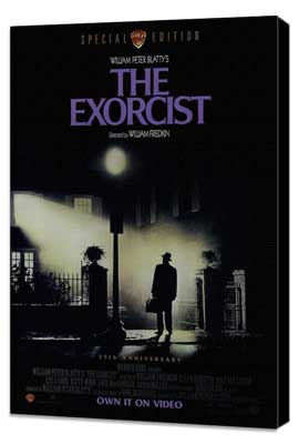 The Exorcist - 27 x 40 Movie Poster - Style A - Museum Wrapped Canvas