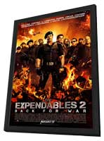 The Expendables 2 - 11 x 17 Movie Poster - Style E - in Deluxe Wood Frame