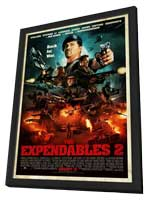 The Expendables 2 - 11 x 17 Movie Poster - Style F - in Deluxe Wood Frame