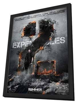 The Expendables 2 - 27 x 40 Movie Poster - Style B - in Deluxe Wood Frame