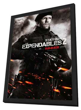 The Expendables 2 - 27 x 40 Movie Poster - Style C - in Deluxe Wood Frame