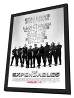 The Expendables - 11 x 17 Movie Poster - Style E - in Deluxe Wood Frame