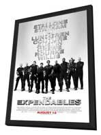 The Expendables - 27 x 40 Movie Poster - Style D - in Deluxe Wood Frame