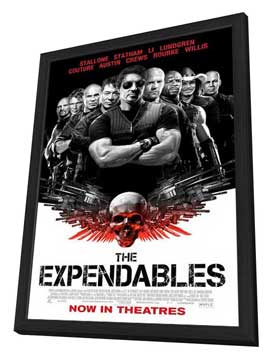 The Expendables - 11 x 17 Movie Poster - Style F - in Deluxe Wood Frame