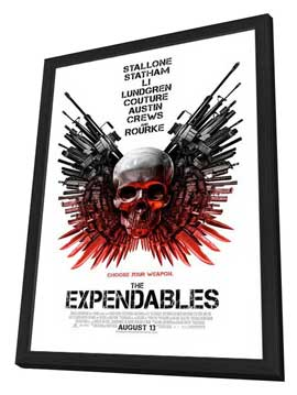 The Expendables - 27 x 40 Movie Poster - Style B - in Deluxe Wood Frame