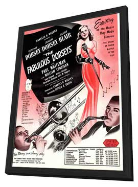 Fabulous Dorseys, The - 11 x 17 Movie Poster - Style A - in Deluxe Wood Frame