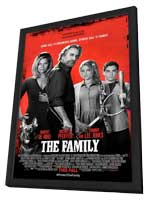 The Family - 27 x 40 Movie Poster - Style A - in Deluxe Wood Frame