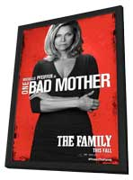 The Family - 11 x 17 Movie Poster - Style F - in Deluxe Wood Frame