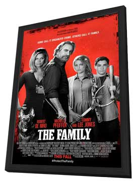 The Family - 11 x 17 Movie Poster - Style A - in Deluxe Wood Frame