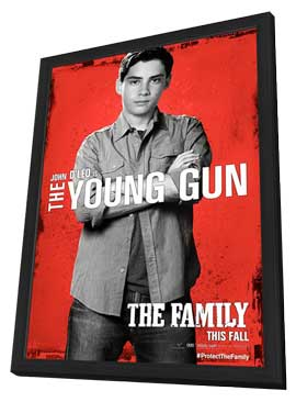 The Family - 11 x 17 Movie Poster - Style C - in Deluxe Wood Frame