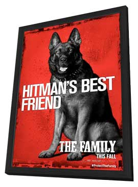 The Family - 11 x 17 Movie Poster - Style D - in Deluxe Wood Frame