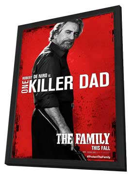 The Family - 11 x 17 Movie Poster - Style E - in Deluxe Wood Frame
