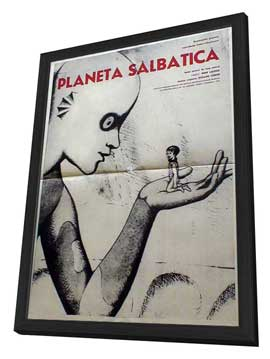 The Fantastic Planet - 11 x 17 Movie Poster - Romanian Style A - in Deluxe Wood Frame