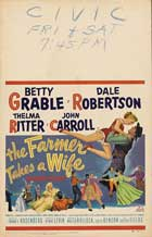 The Farmer Takes a Wife - 11 x 17 Movie Poster - Style A