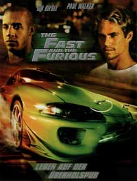 The Fast and the Furious - 27 x 40 Movie Poster - German Style A