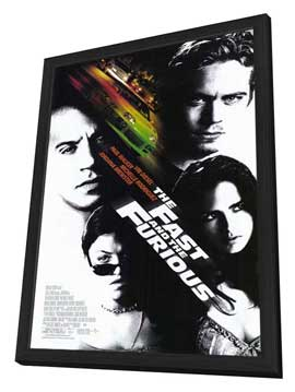The Fast and the Furious - 11 x 17 Movie Poster - Style A - in Deluxe Wood Frame