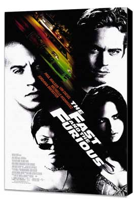The Fast and the Furious - 27 x 40 Movie Poster - Style A - Museum Wrapped Canvas