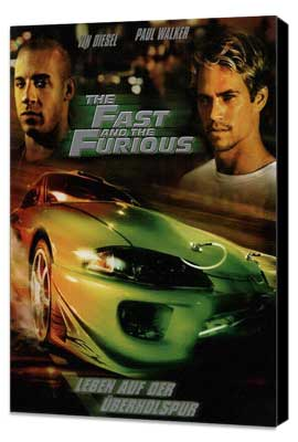 The Fast and the Furious - 27 x 40 Movie Poster - German Style A - Museum Wrapped Canvas