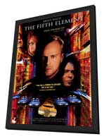 The Fifth Element - 27 x 40 Movie Poster - Style C - in Deluxe Wood Frame