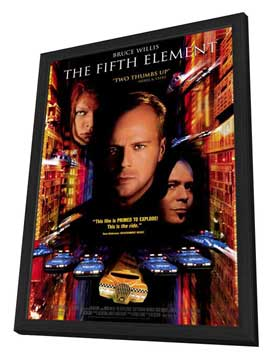 The Fifth Element - 11 x 17 Movie Poster - Style C - in Deluxe Wood Frame