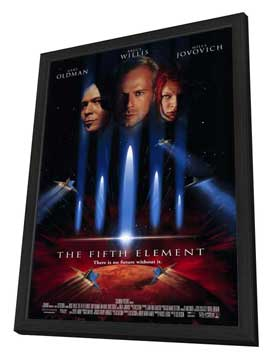 The Fifth Element - 27 x 40 Movie Poster - Style A - in Deluxe Wood Frame