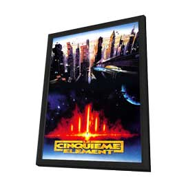 The Fifth Element - 27 x 40 Movie Poster - French Style A - in Deluxe Wood Frame