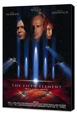 The Fifth Element - 11 x 17 Movie Poster - Style A - Museum Wrapped Canvas