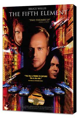 The Fifth Element - 11 x 17 Movie Poster - Style C - Museum Wrapped Canvas