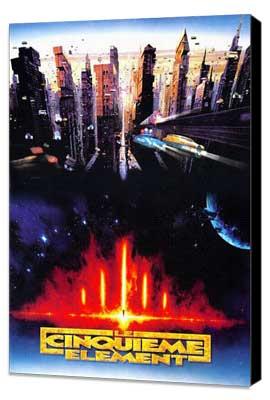 The Fifth Element - 27 x 40 Movie Poster - French Style A - Museum Wrapped Canvas