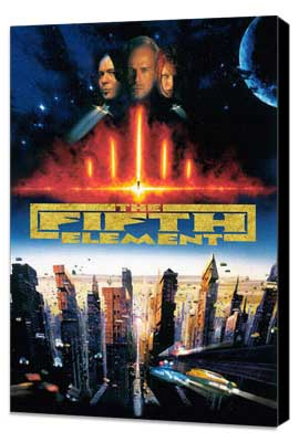 The Fifth Element - 27 x 40 Movie Poster - Style D - Museum Wrapped Canvas