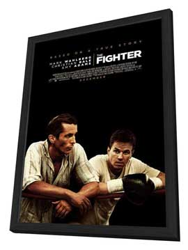 The Fighter - 11 x 17 Movie Poster - Canadian Style A - in Deluxe Wood Frame