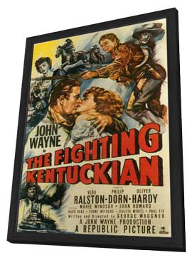 The Fighting Kentuckian - 11 x 17 Movie Poster - Style B - in Deluxe Wood Frame